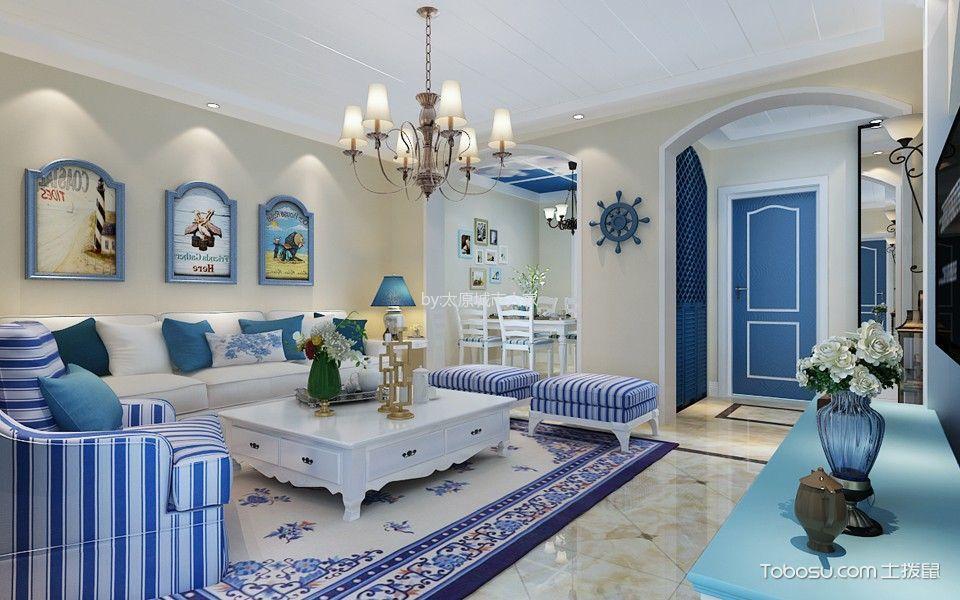 地中海风格110平米楼房房子装饰效果图