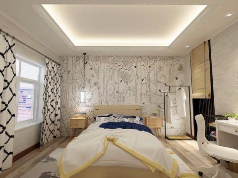 卧室吊顶新中式风格装修效果图