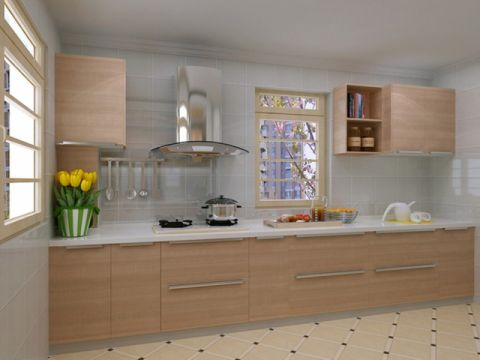 厨房背景墙现代中式风格装饰设计图片