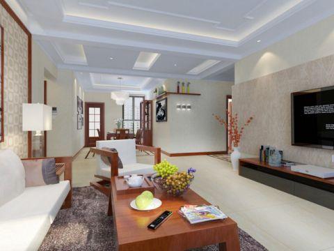客厅吊顶现代中式风格装潢设计图片
