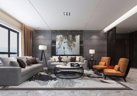 现代简约风格240平米公寓新房装修效果图
