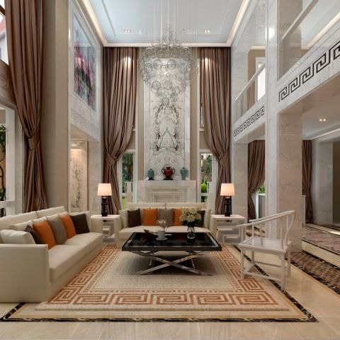 新中式风格420平米别墅新房装修效果图