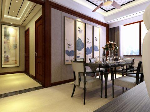 餐厅窗帘现代简约风格装修设计图片