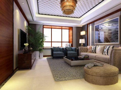 现代简约风格151平米三房两厅新房装修效果图