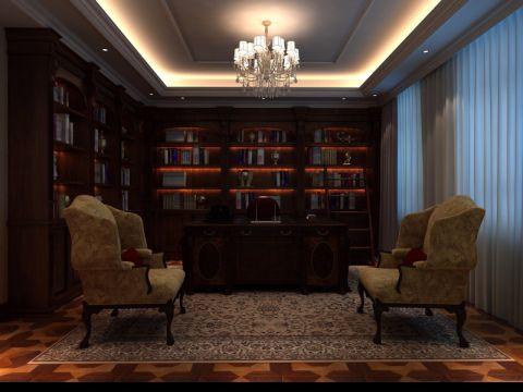 书房博古架新古典风格装修效果图