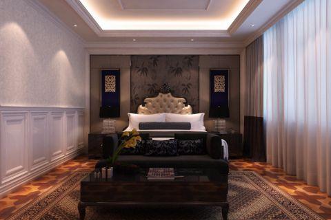 卧室背景墙新古典风格装饰效果图