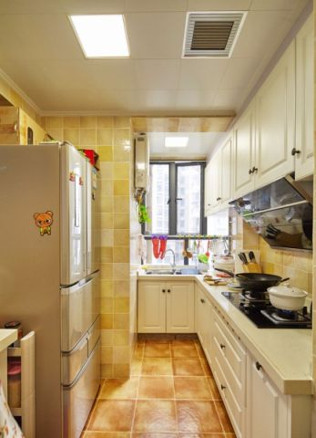 厨房背景墙美式风格装潢设计图片
