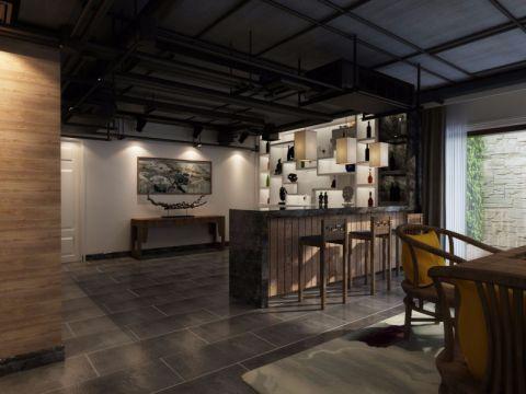 餐厅吧台新中式风格装饰图片