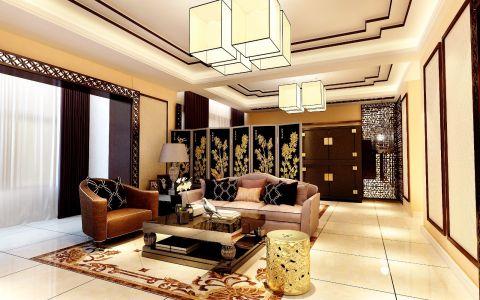 新中式风格230平米别墅新房装修效果图
