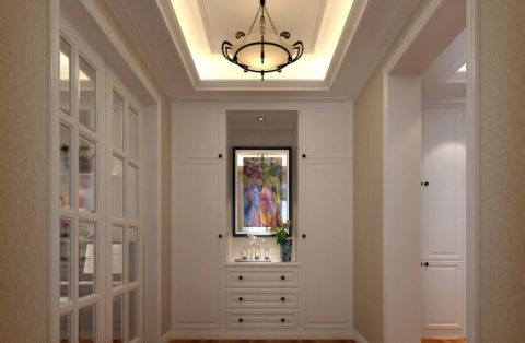 玄关推拉门简欧风格装饰设计图片