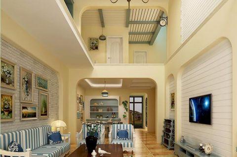地中海风格360平米别墅室内装修效果图