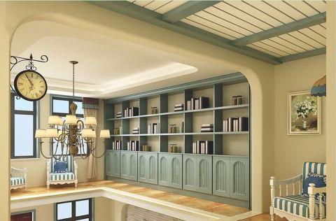 书房吊顶地中海风格装饰设计图片