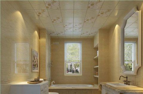 卫生间窗帘欧式风格装潢设计图片