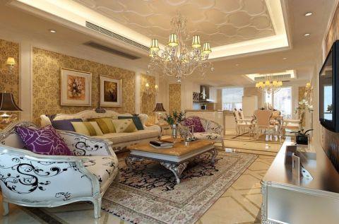 客厅照片墙欧式风格装饰效果图