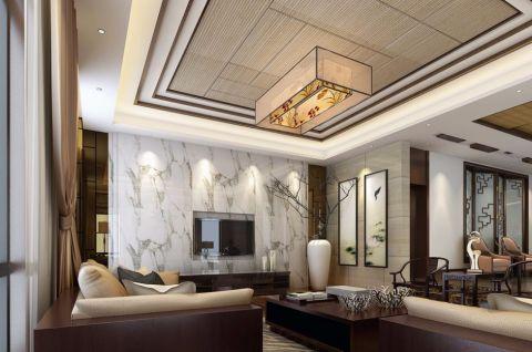 中式风格120平米大户型室内装修效果图