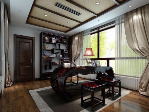 书房书桌中式风格装饰效果图