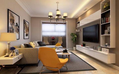 现代简约风格130平米2房2厅房子装饰效果图