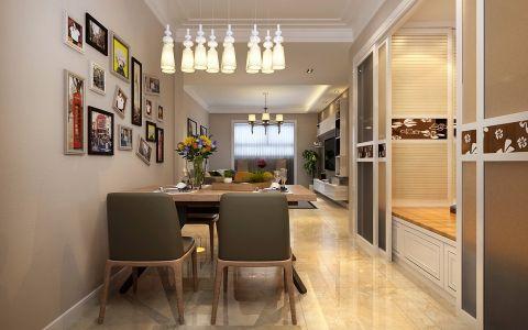 餐厅米色照片墙现代简约风格装饰效果图