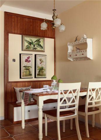 餐厅背景墙田园风格装修设计图片