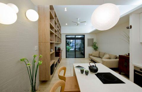 厨房白色隔断现代风格效果图
