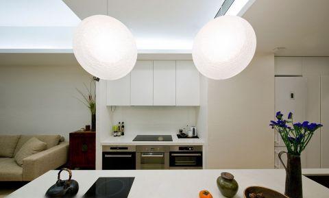厨房白色背景墙现代风格装修效果图