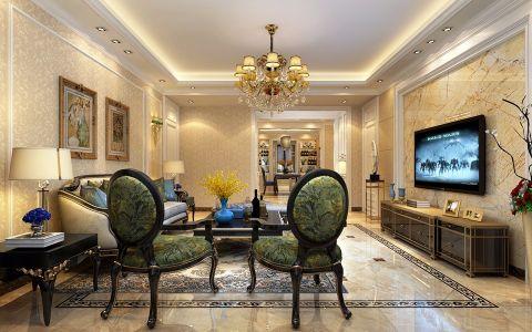 简欧风格190平米三室两厅室内装修效果图