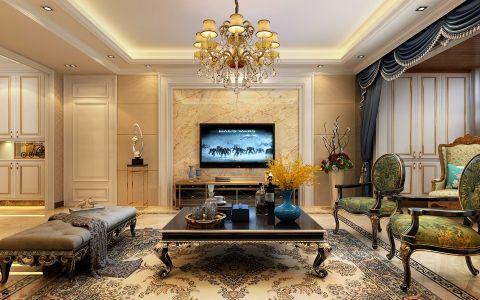 客厅窗帘简欧风格装潢效果图