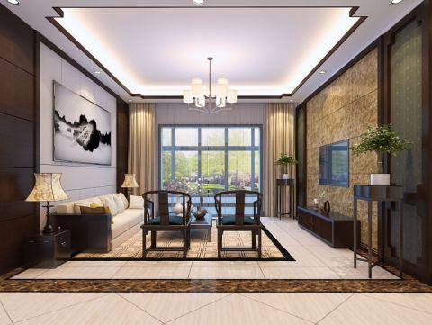 客厅背景墙中式风格装饰效果图