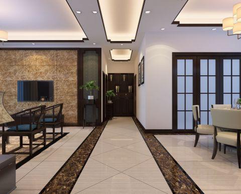 玄关吊顶中式风格装潢效果图