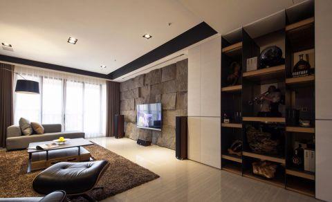 后现代风格99平米三室两厅室内装修效果图