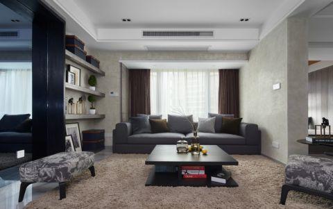 现代简约风格100平米楼房新房装修效果图