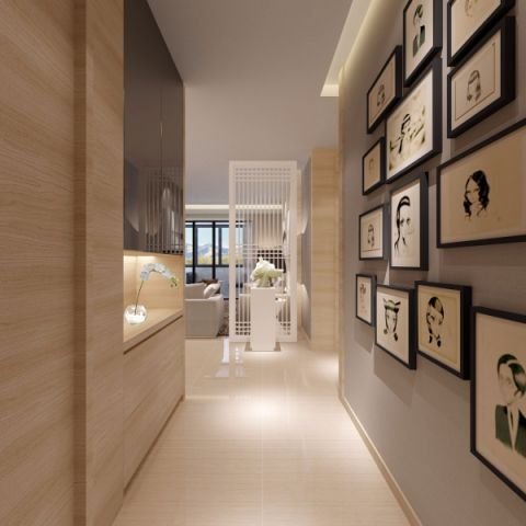 玄关照片墙现代简约风格装饰图片