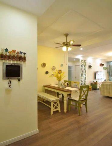 客厅背景墙田园风格装潢设计图片