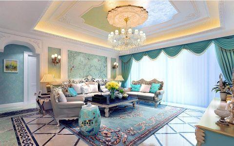 法式风格250平米大户型室内装修效果图