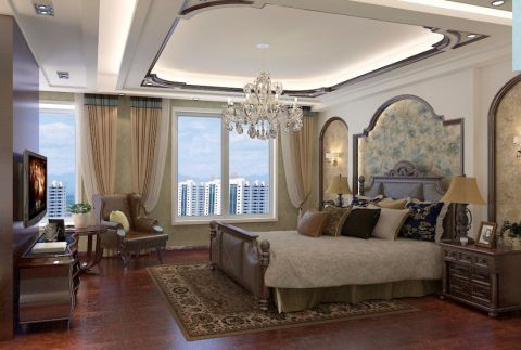 美式风格180平米别墅新房装修效果图