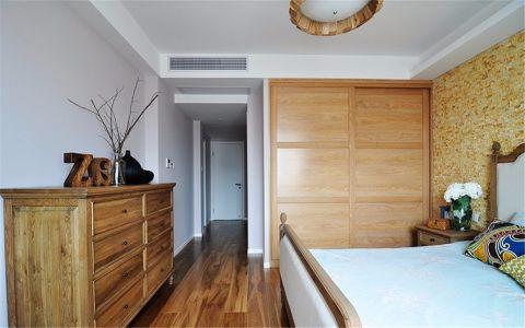 卧室背景墙现代简约风格装潢效果图