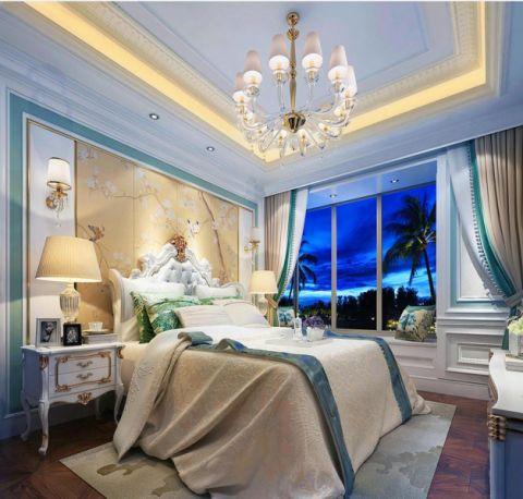 卧室背景墙法式风格装潢设计图片
