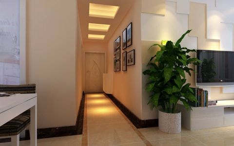 玄关照片墙现代风格装修设计图片