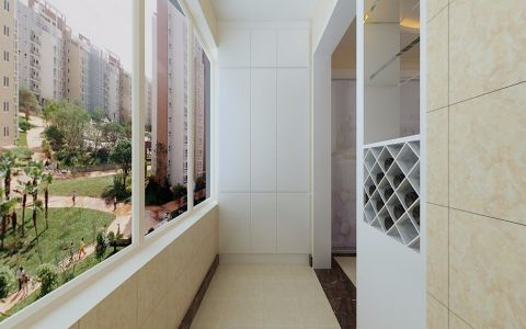 阳台背景墙现代风格装饰设计图片