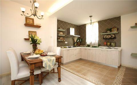厨房背景墙田园风格装修设计图片