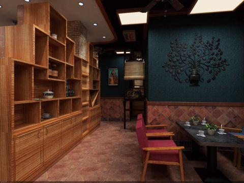 美式乡村风格AS咖啡厅装潢效果图