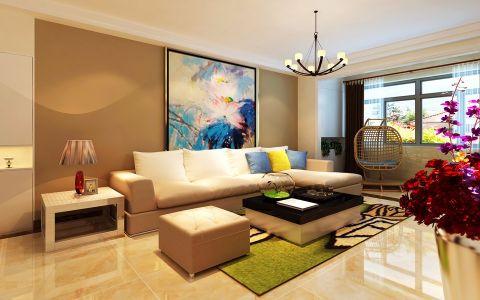 后现代风格104平米3房2厅房子装饰效果图