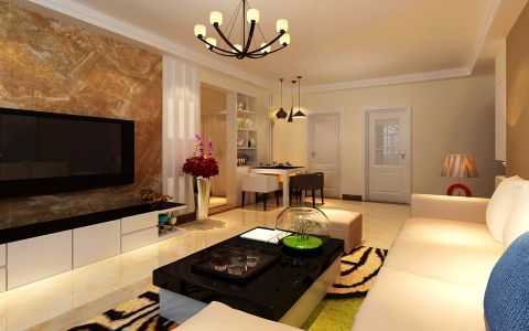 客厅走廊现代风格装饰图片