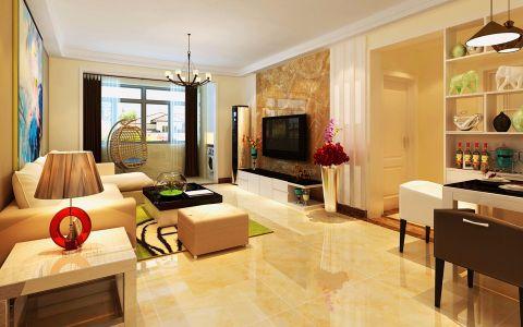 客厅走廊后现代风格装潢图片