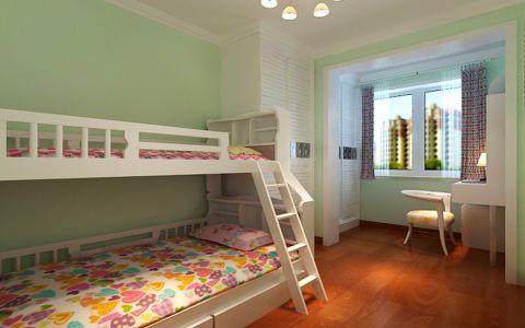 儿童房背景墙后现代风格效果图