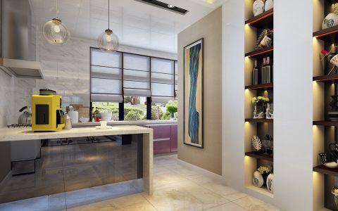 厨房窗帘现代简约风格装饰设计图片
