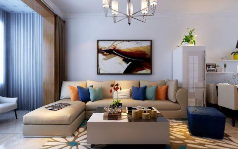 现代简约风格90平米小户型房子装饰效果图