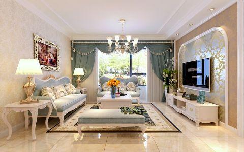 简欧风格130平米大户型室内装修效果图