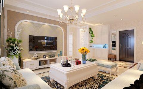 客厅茶几简欧风格效果图