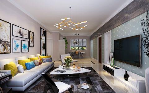 现代简约风格116平米小户型房子装饰效果图